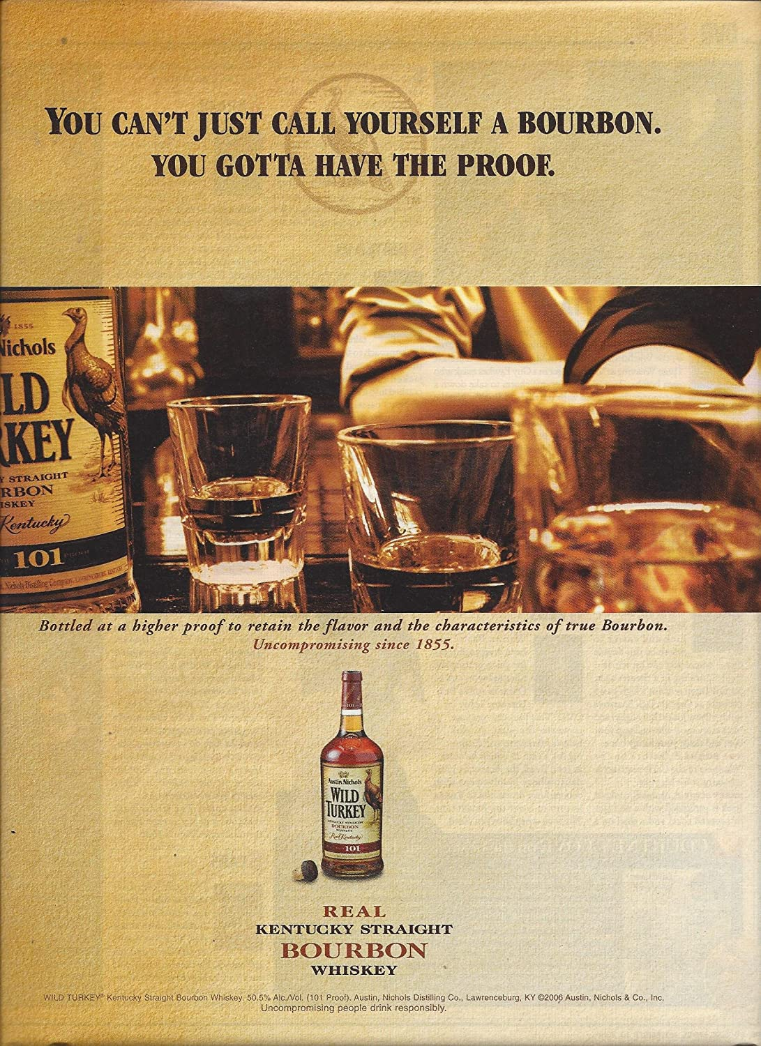 **PRINT AD** For Wild Turkey Bourbon You Gotta Have The Proof