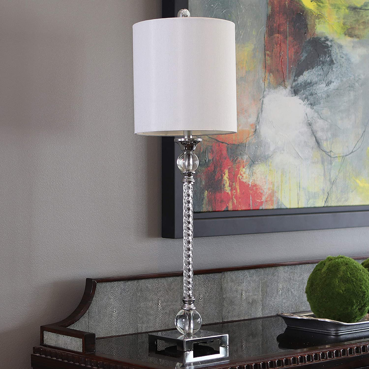 Décor Therapy TL17313 Table Lamp, Chrome and Clear Acrylic
