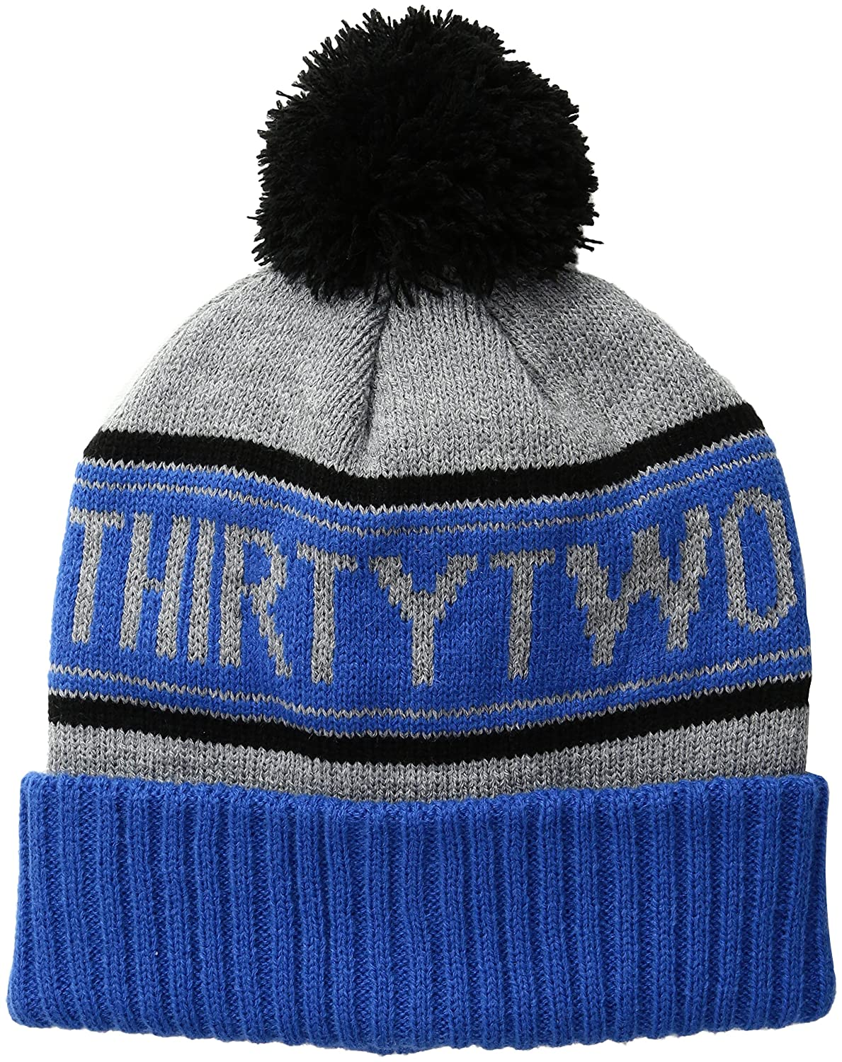a7a9cd09d6fef1 Amazon.com: ThirtyTwo Pom Snowboard Beanie, Blue, One Size: Clothing