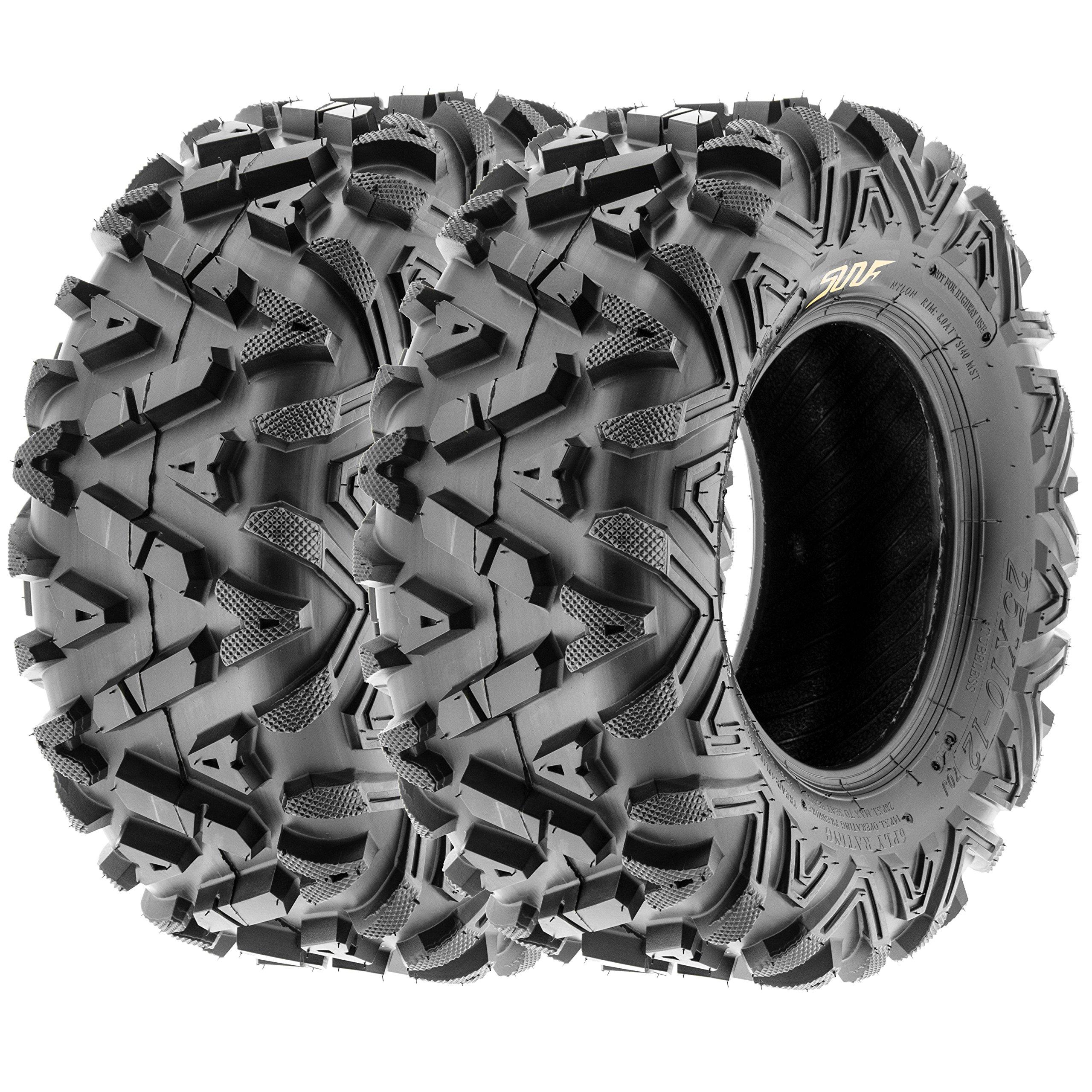 SunF All Trail A/T ATV UTV Tires 22x10-12 22x10x12 6 PR A033 (Set pair of 2)