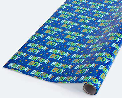 Image Unavailable Not Available For Color American Greetings Birthday Boy Wrapping Paper