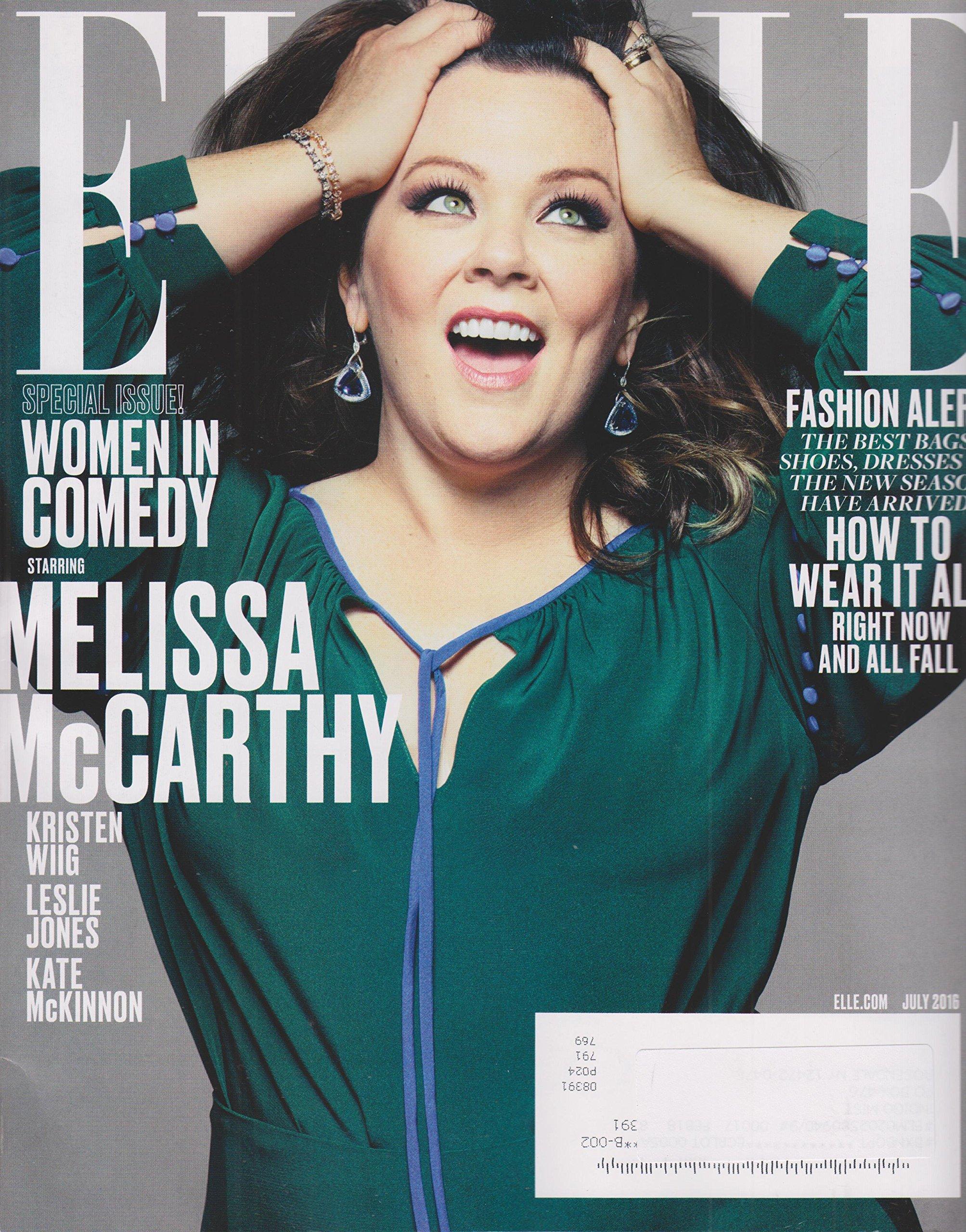 Download Elle July 2016 Women in Comedy Starring Melissa McCarthy ebook
