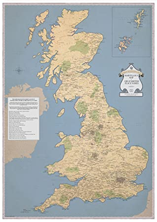 Rude Map of Britain  STGs Marvellous Map  Vintage Style