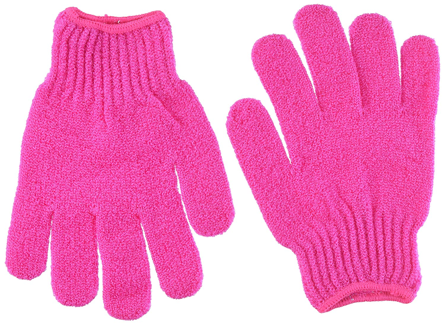 Pink YJYdada 2Pair Bath Scrub mitt Gloves Massage Scrubber Shower wash Skin Spa Shower Tool