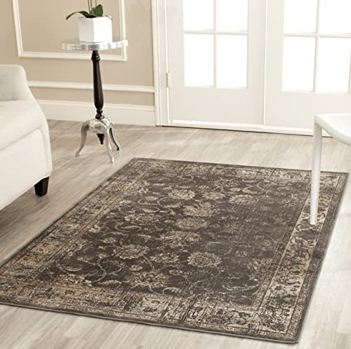 Safavieh Vintage Collection VTG117-330 Oriental Distressed Silky Viscose Area Rug, 2 x 3 , Soft Anthracite