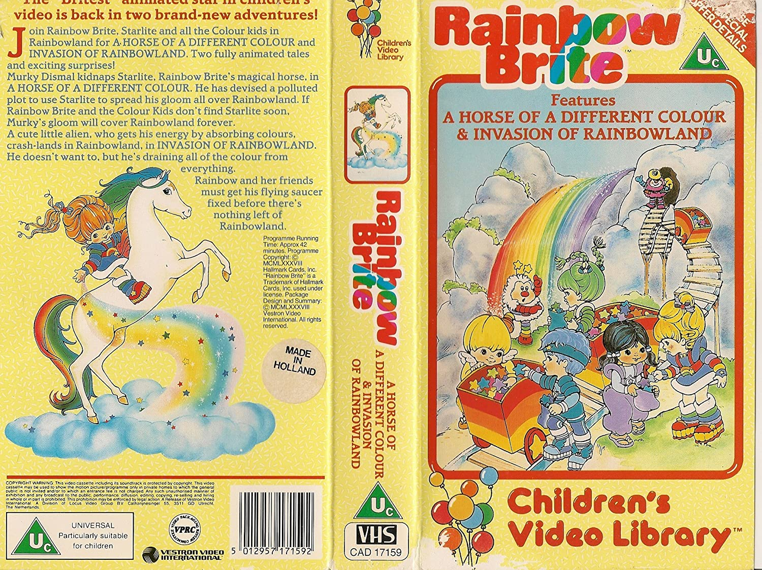 rainbow brite horse of diff vhs amazon co uk video rainbow brite horse of diff vhs