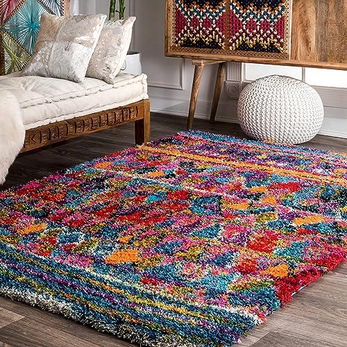 nuLOOM Leisha Moroccan Shag Rug, 5 3 x 7 6 , Multi