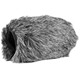 Movo WS-AM30 Furry Outdoor Microphone Windscreen Muff Custom Fit for Azden SMX-30 Stereo/Mono Switchable Video Microphone