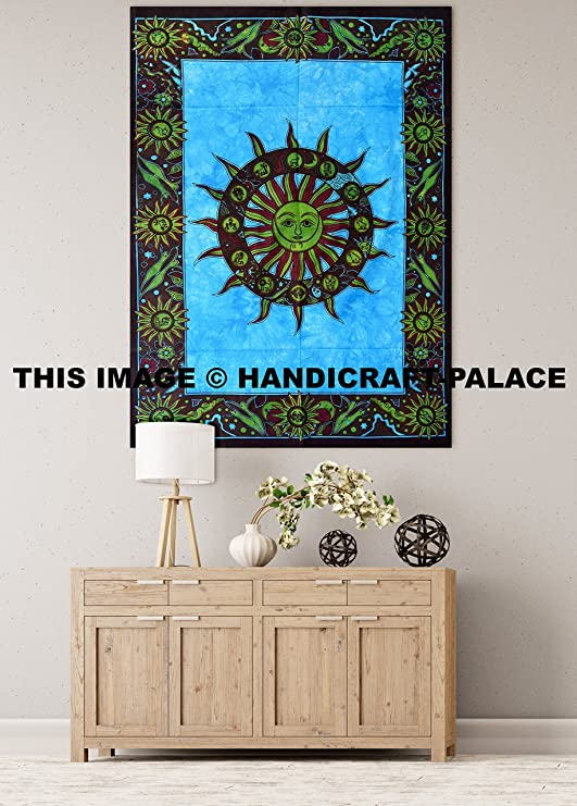 Amazon.com: Indian Mandala Pared Tapiz bohemia sol ...