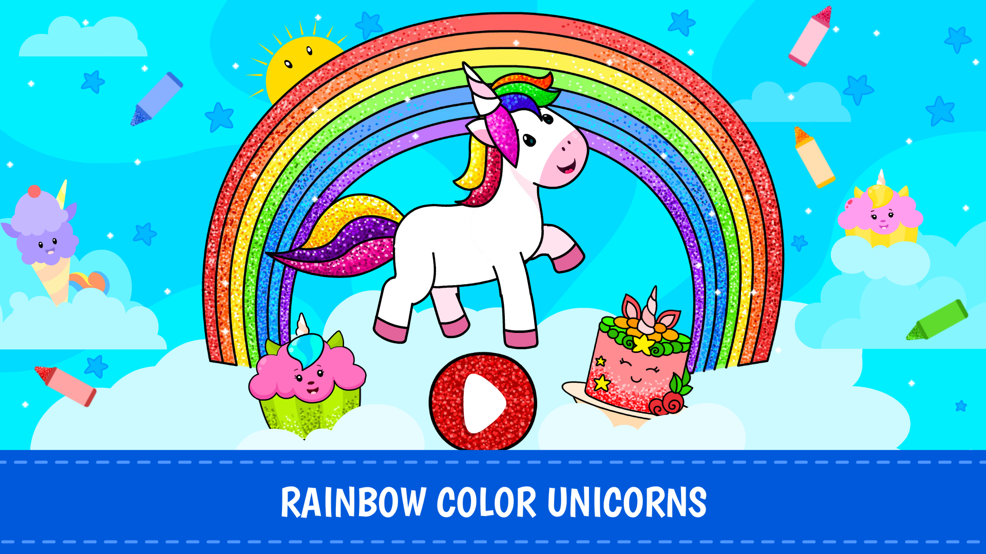Amazon.com: Unicorn Coloring Games for Kids: Free Rainbow ...