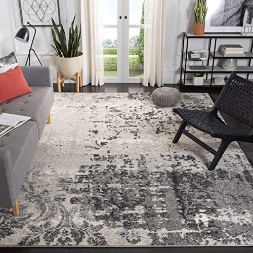 Safavieh Retro Collection RET2139-7980 Modern Abstract Light Grey and Grey Area Rug 8' x 10'