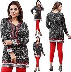 Unifiedclothes Women Fashion Casual Short Indian Kurti Tunic Kurta Top Shirt Dress 40A Sale £9.99