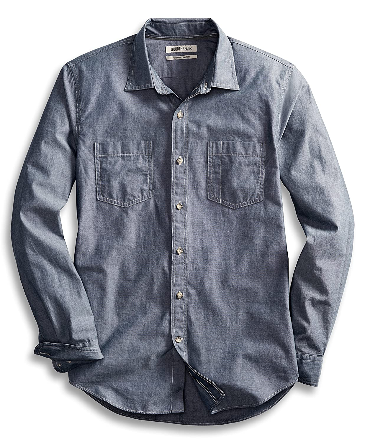 Chambray shirt images galleries with for Men s dobby shirt