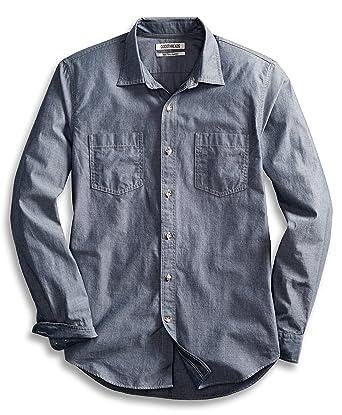 Amazon Com Goodthreads Men S Slim Fit Long Sleeve Double Pocket