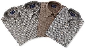 (ラルフエヴァンス)RALPH EVANS 洗えるウール混シャツ4枚セット K2001-7