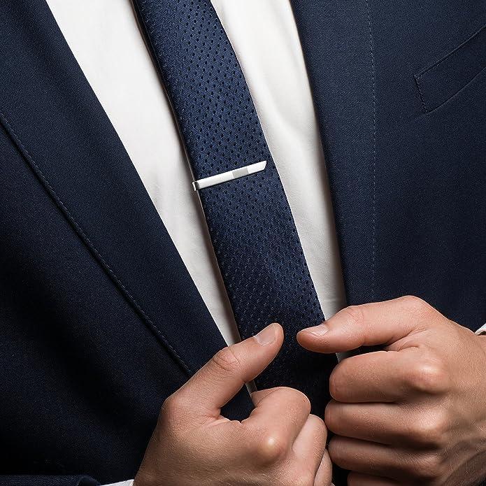sterll Hombre Plata de pasador de corbata corta Plata 925 ...