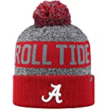 Top of the World NCAA Arctic Striped Cuffed Knit Pom Beanie Hat