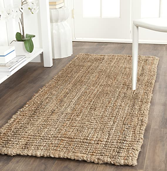 """Safavieh Natural Fiber Collection Nf447 A Hand Woven Natural Jute Runner (2'6"""" X 8') by Safavieh"""