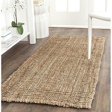 Safavieh Natural Fiber Collection  Hand Woven Natural Jute Area Rug (2'6  x 10')