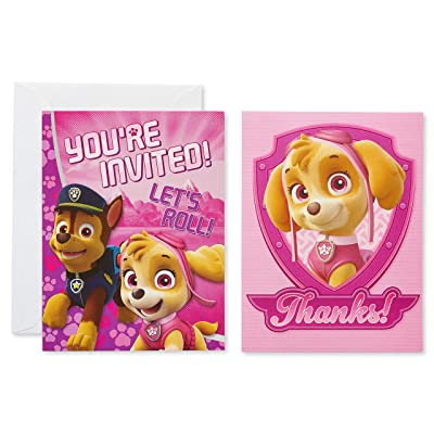 American Greetings Paw Patrol Party Supplies, Invitation and Thank You Card Bundle, (8-Count): Toys & Games