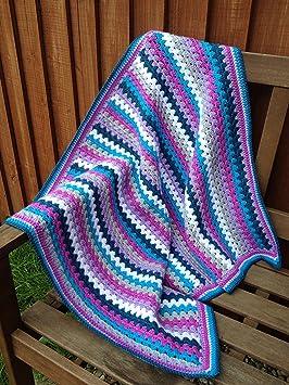 Grandma s diseño de rayas Kit de manta de ganchillo en varios tamaños –