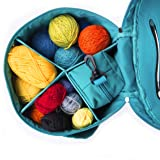 Knitting Bag Yarn Storage - Durable Canvas Yarn Bag - Yarn Organizer Crochet Bag with Knitting Accessories Case