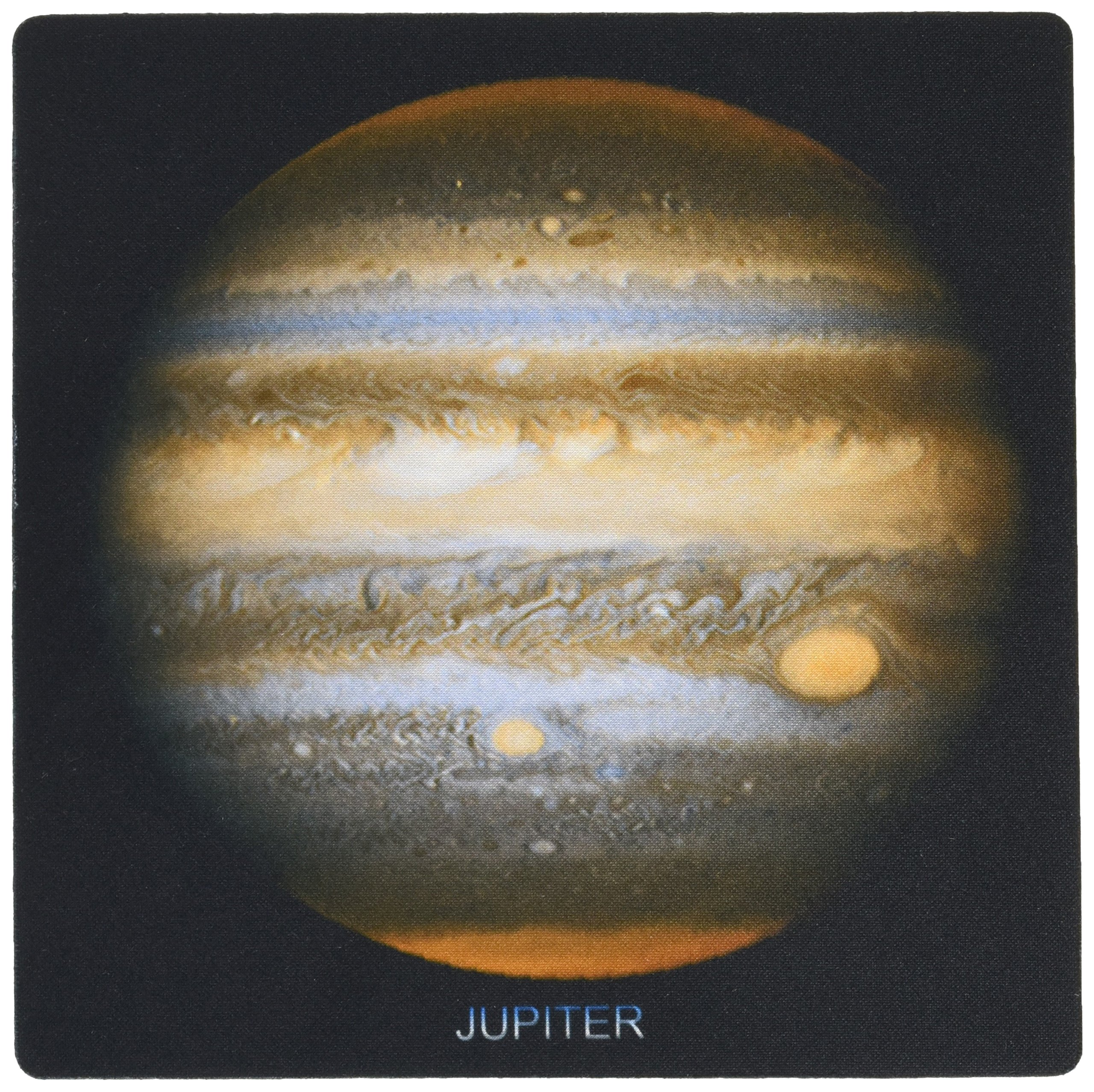 3dRose Solar System - Jupiters New Red Spot - Mouse Pad, 8 by 8 inches (mp_76845_1)