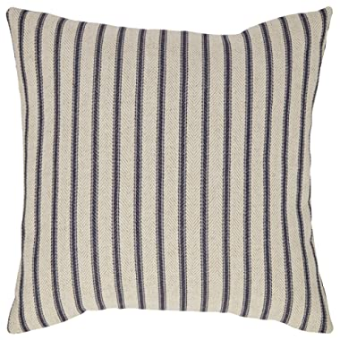 Stone & Beam Classic Ticking Stripe Throw Pillow - 17 x 17 Inch, Indigo