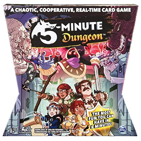 Spin Master Games 5 - Minute Dungeon, Fun Card Game for Kids & Adults