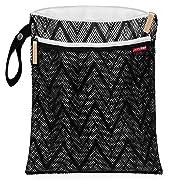 Skip Hop Waterproof Wet Dry Bag, Grab & Go, Zig Zag Zebra