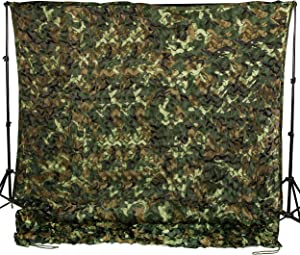 Ginsco 6.5ft x 10ft 2mx3m 6.5ft x 20ft 2mx6m Woodland Camouflage Netting Desert Camo Net for Camping Military Hunting Shooting Blind Watching Hide Party Decorations