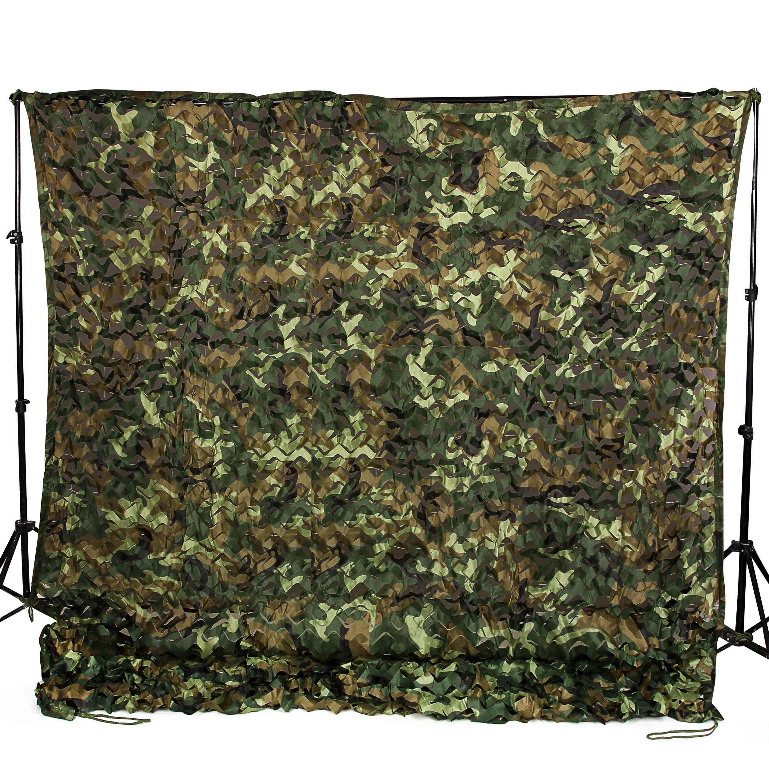 Ginsco 6.5ft x 20ft 2mx6m Woodland Camouflage Netting Desert Camo Net for Camping Military Hunting Shooting Blind Watching Hide Party Decorations (6.5x20ft (2Mx6M)) by Ginsco