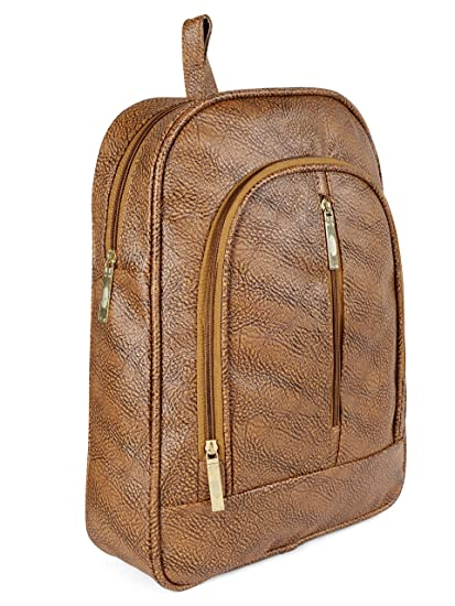 9b8ca40e1d Image Unavailable. Image not available for. Colour  Flora Premium PU Leather  Women s And Girls Backpack ...