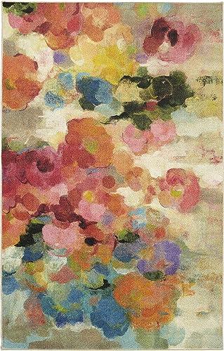 Mohawk Home Blurred Blossoms Multicolored Area rug, 10 x14