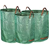 Gardzen 3-Pack Garden bag 32&40&72 Gallons - Reuseable Heavy Duty Gardening Bags, Lawn Pool Garden Leaf Waste Bag