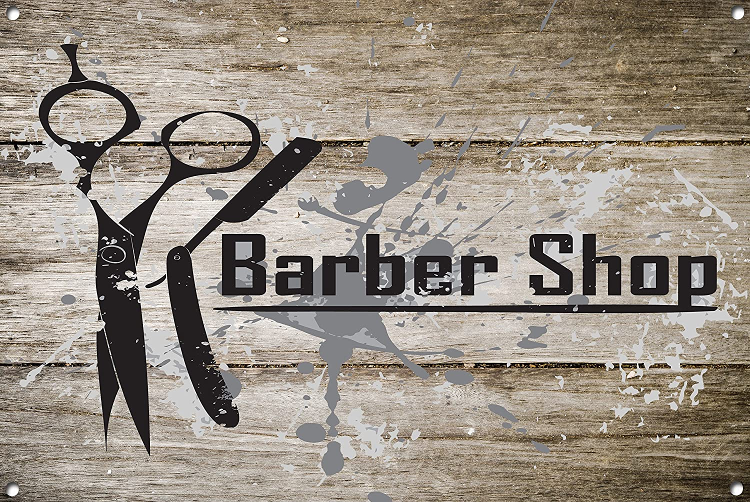 Barber Shop 1014 - Cartel de metal, diseño de barbero ...
