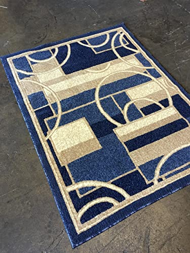Carpet Kings Modern Area Rug Blue Design 115 8ft.X10ft.6in.