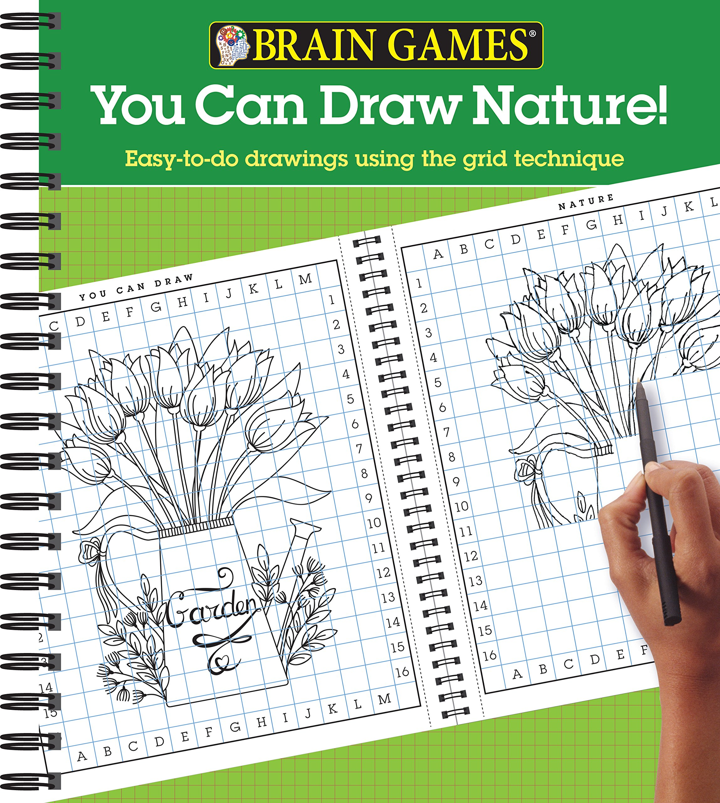 Amazoncom Brain Games You Can Draw Nature Easy To Do