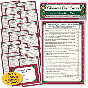 photograph about 1950 Trivia Questions and Answers Printable known as Xmas QUIZ Video games: Tunes Model Social gathering Activity for Relatives, Place of work Christmas get-togethers