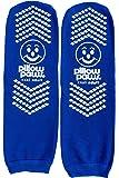 XXXL Blue Slip Stop Socks (4 Pairs) (Extra Wide Bariatric) (XXXL) (Triple Extra Large)