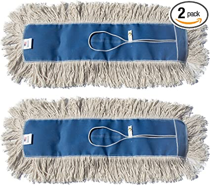Nine Forty Industrial Strength Premium Nylon Floor Dust Mop Refill 48 Wide X 5 Commercial Cleaner Mop Head Replacement