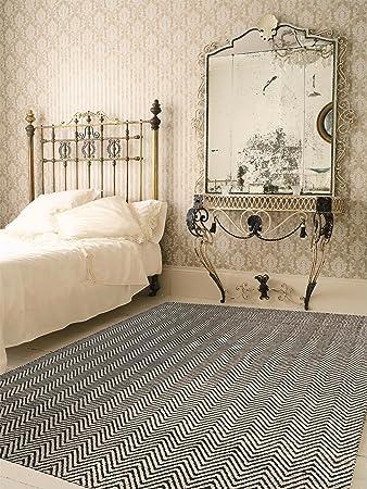 Benuta Teppiche: Moderner Designer Teppich Matrix Ives Schwarz ... Wohnzimmer Teppich Schwarz Weis