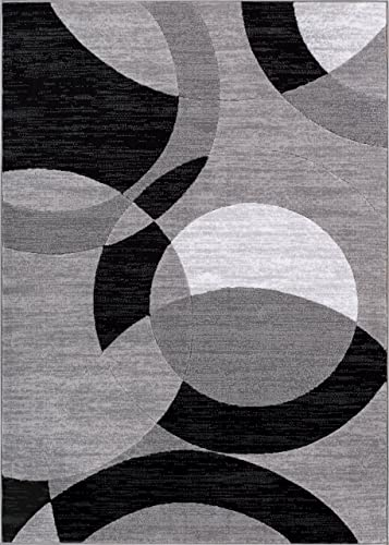 Well Woven Feather Modern Area Rug, 9 3 x 12 6 , Grey