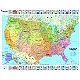 USA Political Wall Maps (Michelin Wall Maps)