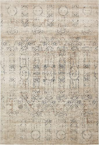 Unique Loom Chateau Collection Distressed Vintage Traditional Textured Beige Area Rug 10 0 x 14 5