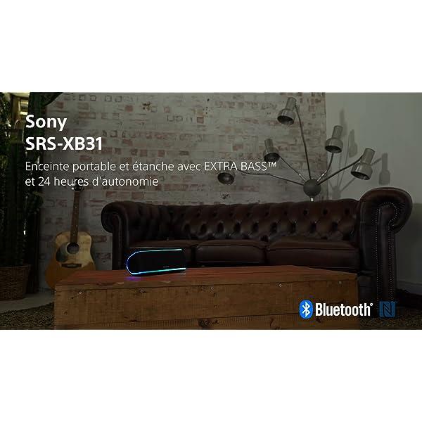Sony SRS-XB31 Enceinte portable sans fil Bluetooth Waterproof avec effets lumière - Noir 7