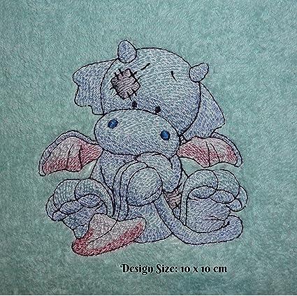 Llama el dragón – Old diseño de juguetes (185) – bordado personalizado toalla de