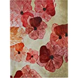 "Amazon Brand – Stone & Beam Modern Red & Pink Floral Print Wall Art on Canvas, 30"" x 40"""