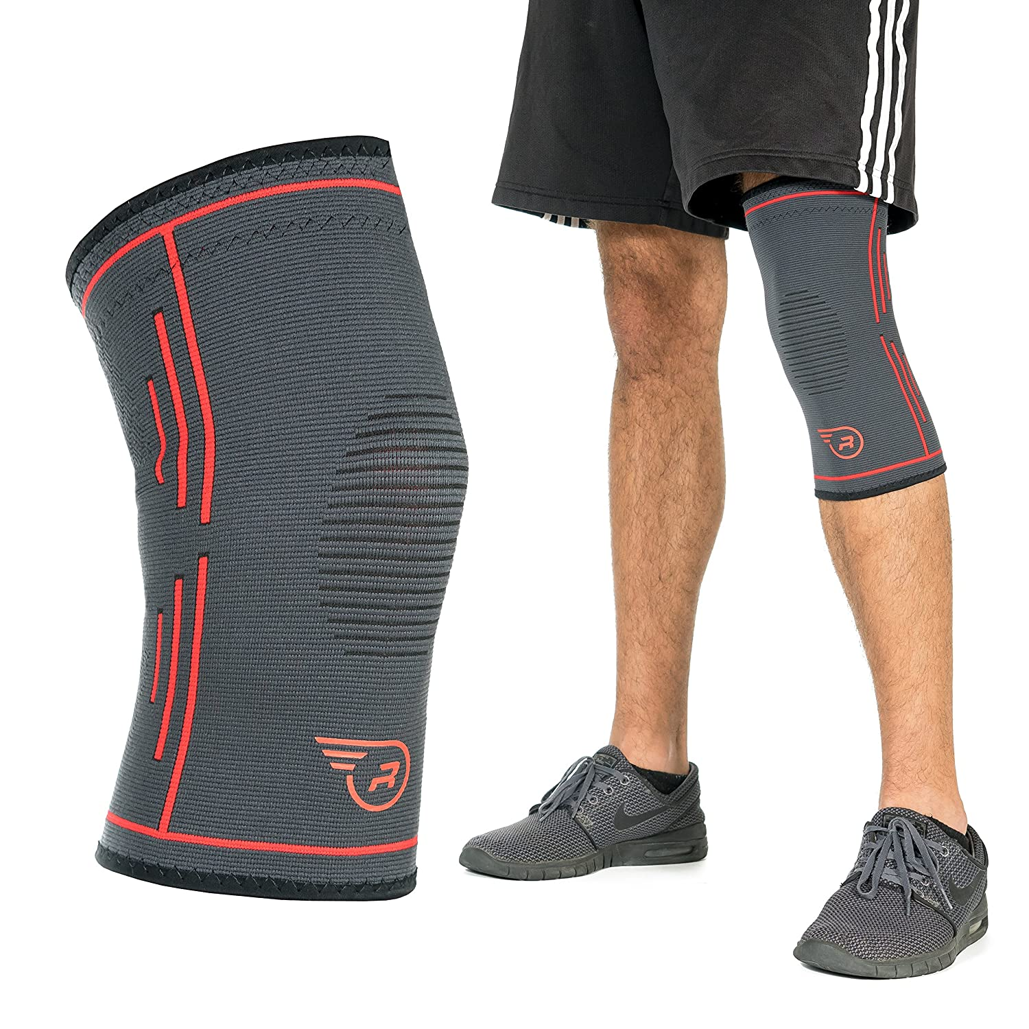 f7639b398c SUPERIOR PROTECTION FOR KNEES – Single knee compression sleeve for women  and men provides effective joint pain relief and helps relieve symptoms  associated ...