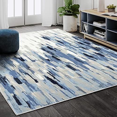 Abani Rugs Blue Beige Abstract 7'9'x10'2' Area Rug